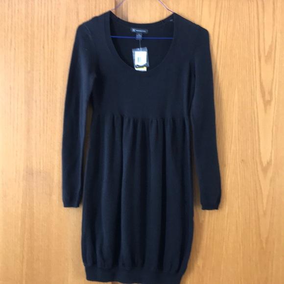 68dfd6c9d5 INC black blouson skirt sweater dress. NWT. Med